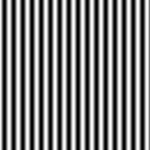 Array of lines (sinusoidal modulation)