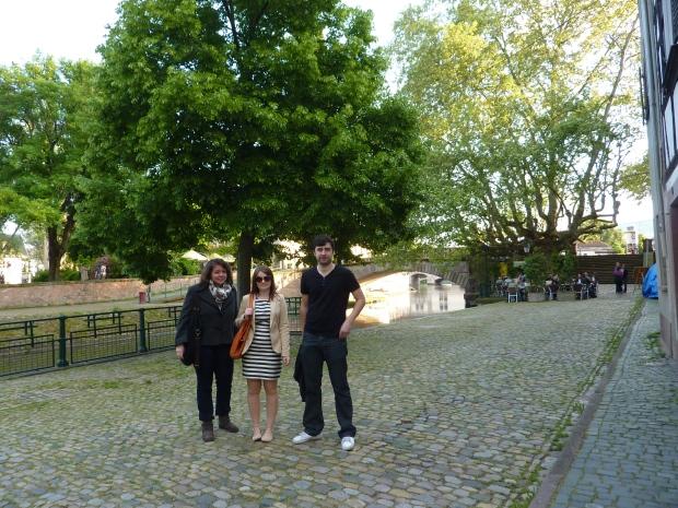 Elena, Lara and Dan in La Petite France, Strasbourg, May 2013